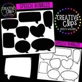 Speech Bubble Clipart {Creative Clips Clipart}