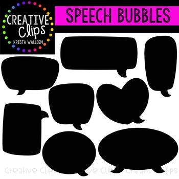Speech Bubble Clipart {Creative Clips Clipart}