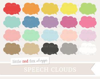 Speech Bubble Clipart; Speech Cloud, Thought, Label