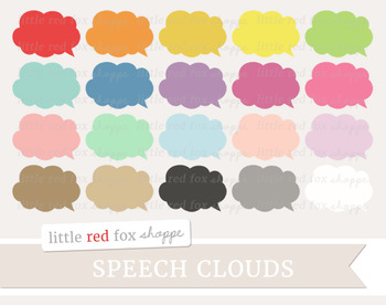 Speech Bubble Clipart; Speech Cloud, Thought, Label