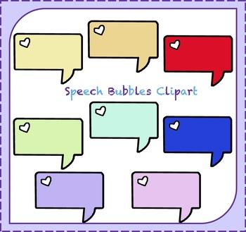 Speech Bubble Clipart / Thought Bubble Clipart