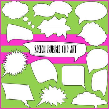 Speech Bubble Doodle Clip Art