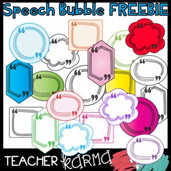Speech Bubbles Clipart FREEBIE! 20 Free Graphics