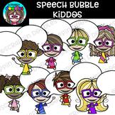 Speech Bubble Kiddos Clipart {Scrappin Doodles Clipart}