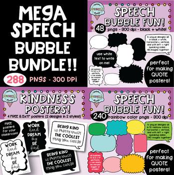 Speech Bubble MEGA BUNDLE  {speech bubble clipart}