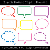 Speech Bubble SVG Bundle - Outline