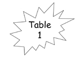 Speech Bubble Table Signs