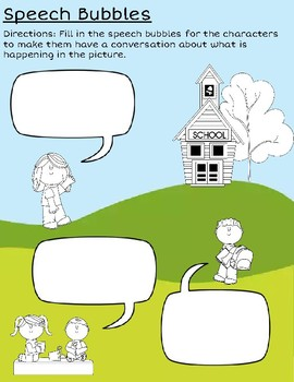 speech bubble worksheet for writing dialogue by miss ilyssa kindergarten. Black Bedroom Furniture Sets. Home Design Ideas