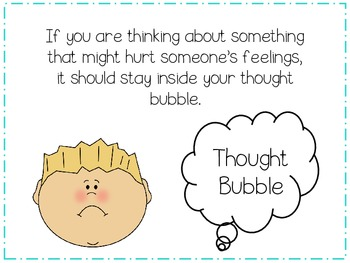 Speech Bubble or Thought Bubble?  A Social Skills Packet