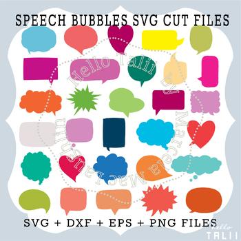 Speech Bubbles: 30 SVG cuttting files