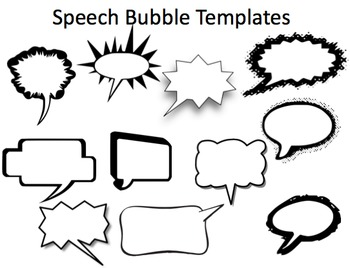 Speech Bubbles - Exploring Dialogue  (Fully Editable BUNDLE!)