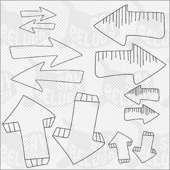 Speech Bubbles - Arrows - Doodles Clip Art Pack – Commercial
