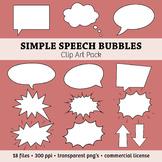 Simple Speech Bubbles & Arrows Clip Art Pack – Commercial