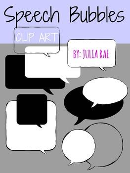 32 Speech Bubbles (Digital Clip Art)