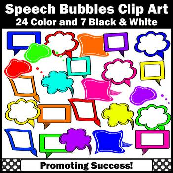 Speech Bubble Clipart, Conversation Cartoon Strip Commercial Use Images SPS
