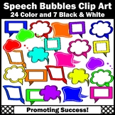 Colorful Speech Bubble Clip Art SPS