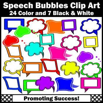Colorful Speech Bubble Clip Art SPS
