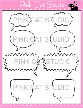 Speech Bubbles Clip Art Set – Personal or Commercial Use