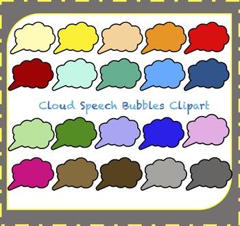 Speech Bubbles Clipart / Thought Bubbles Clipart