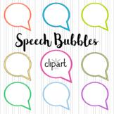 Speech Bubbles Clipart. 50 elements. 25 colors.