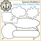 Speech Bubbles Clipart {Anchor Art Man}