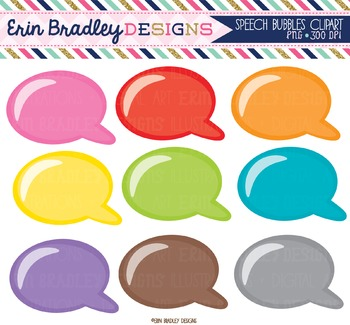 Speech Bubbles Clipart Graphics