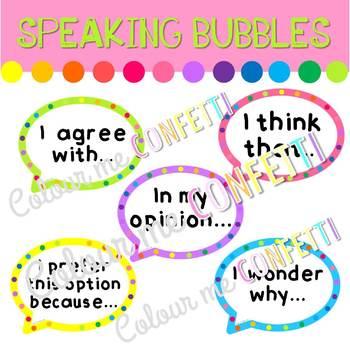 Speech Bubbles - Colour me Confetti