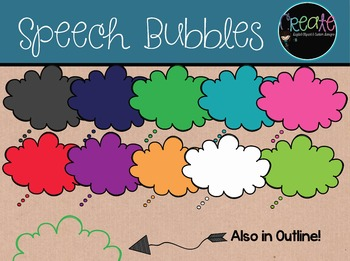 Speech Bubbles - Digital Clipart