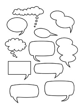 picture regarding Printable Speech Bubbles known as Speech Bubbles Freebie
