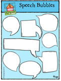 Speech Bubbles - Let's Talk (P4 Clips Trioriginals Digital Clip Art)
