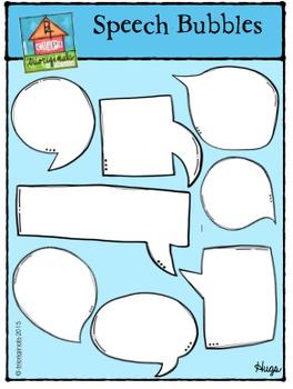 Speech Bubbles - Let's Talk (P4 Clips Trioriginals Digital Clip Art)