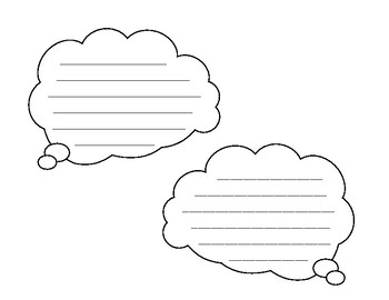 Speech Bubbles, Thought Bubbles and fun Writing Sheets