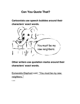 Speech Bubbles and Quotation Marks
