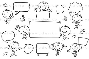 Speech Bubbles and Signs