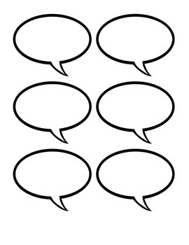 Speech Bubbles and Thought Bubbles