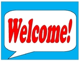Speech Bubbles for Students to Write WELCOME in their Language