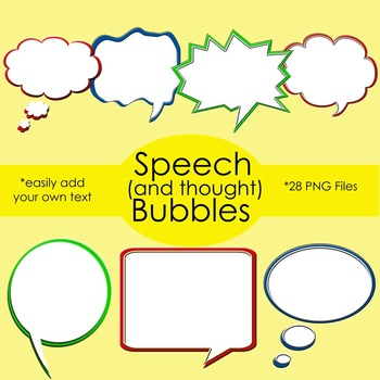 Speech Bubble Clip Art for your Covers, Worksheets, Task Cards and More!