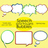 Speech Bubble Clip Art for your Covers, Worksheets, Task C