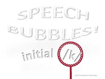 Speech Bubbles (initial /k/)
