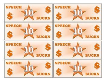 Speech Bucks Freebie!