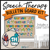 Speech Therapy Bulletin Board / Door Decor Kit: Cactus w/ Craftivity