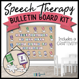 Speech Therapy Bulletin Board / Door Decor Kit: Glue Bottles w/ Craftivity