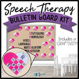 Speech Therapy Bulletin Board / Door Decor Kit: Valentine's Day w/ Craftivity