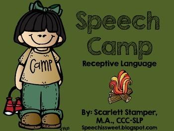 Speech Camp: Receptive Language Activities