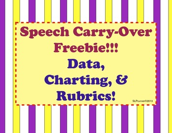Speech Freebie- Carry-Over for Older Students