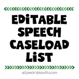 Editable Speech Caseload Roster List {FREEBIE}