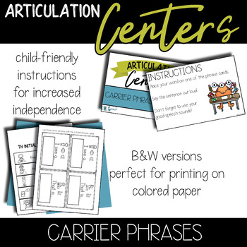Speech Centers: Carrier Phrases