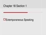 (Speech) Ch. 18 Extemp/Impromptu Speaking