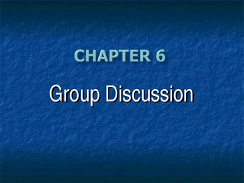(Speech) Ch. 6 Group Discussion