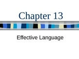(Speech) Ch.13 Effective Language